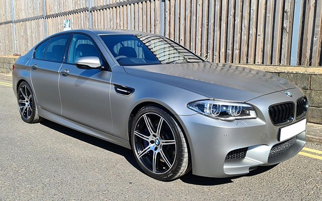 PPF for Matte Paint on BMW M5 at our detailing studio in Basingstoke, Hampshire